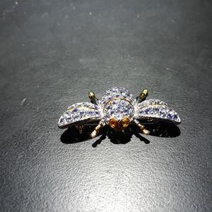 Natural Tanzanite Bee Brooch H10